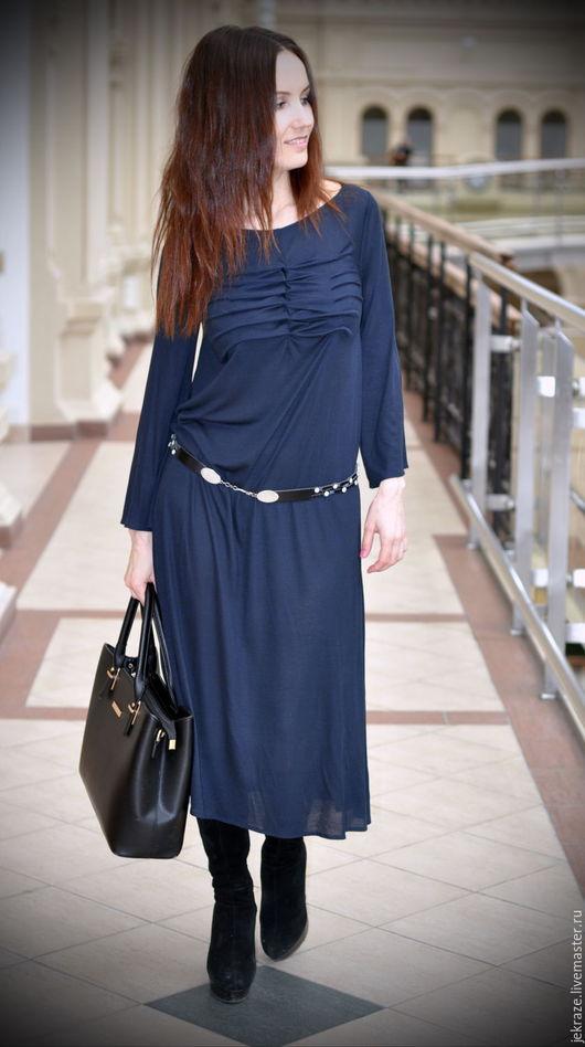 """Платья ручной работы. Ярмарка Мастеров - ручная работа. Купить Струящееся платье """"Нежность"""". Handmade. Черный, эффектное платье"""