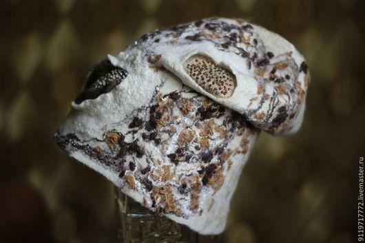 Шапки ручной работы. Ярмарка Мастеров - ручная работа. Купить Валяная шапка. Handmade. Белый, зимняя шапка, шапка-колпак