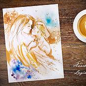 Картины и панно handmade. Livemaster - original item Mother - painting on paper. Handmade.
