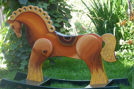 Аксессуары для фотосессий ручной работы. Ярмарка Мастеров - ручная работа. Купить Конь качалка из массива кедра Богатырский. Handmade. Конь