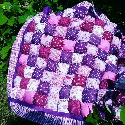 Текстиль, ковры ручной работы. Ярмарка Мастеров - ручная работа. Купить Одеяло-покрывало-плед зефирки-бомбоны-пуфики Ягодное лето. Handmade.