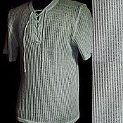 Мужская одежда handmade. Livemaster - original item Men`s shirts: 100% linen Lightweight shirt for hot summer. Handmade.