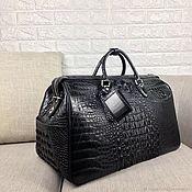 Сумки и аксессуары handmade. Livemaster - original item Travel / sports bag made of embossed crocodile skin.. Handmade.