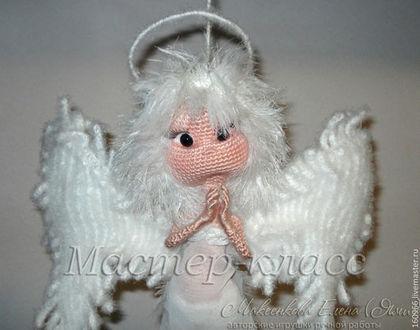 Вязание ручной работы. Ярмарка Мастеров - ручная работа МК по вязанию Ангела-хранителя. Handmade.