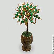 Цветы и флористика handmade. Livemaster - original item The tree of jade in a vase of onyx,