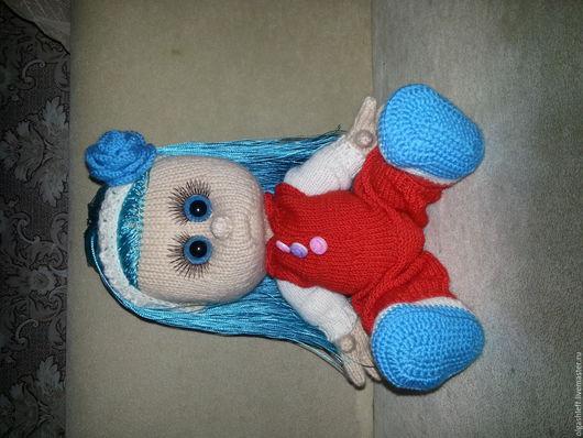 Коллекционные куклы ручной работы. Ярмарка Мастеров - ручная работа. Купить Мальвинка. Handmade. Вязаная игрушка спицами, вязание на заказ