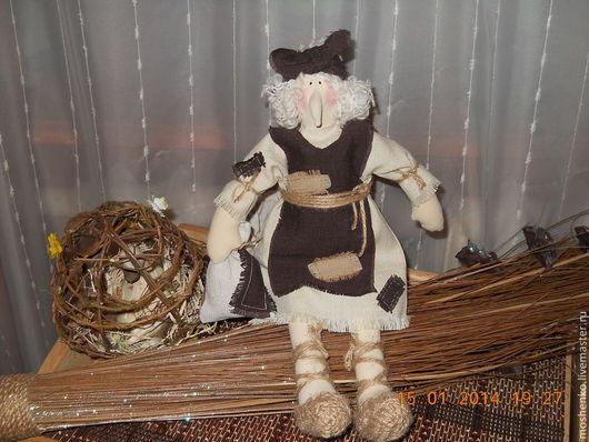 Сказочные персонажи ручной работы. Ярмарка Мастеров - ручная работа. Купить Бабка Ежка(Продано). Handmade. Коричневый, интерьерная кукла