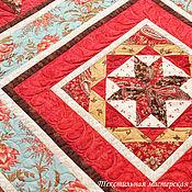 """Для дома и интерьера ручной работы. Ярмарка Мастеров - ручная работа Лоскутное одеяло """" Красная горка """" с инеем. Handmade."""