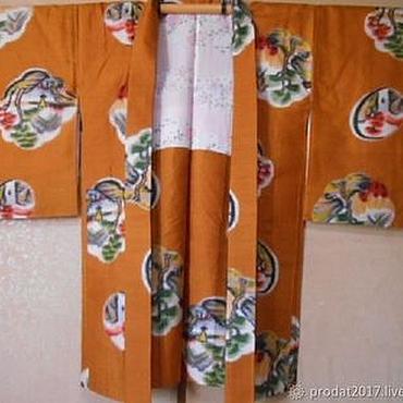 Винтаж ручной работы. Ярмарка Мастеров - ручная работа Винтаж: Кимоно со шлепанцами Япония. Handmade.
