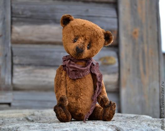 Мишки Тедди ручной работы. Ярмарка Мастеров - ручная работа. Купить Кузьма. Мишка из детства.... Handmade. Коричневый, мишка тедди