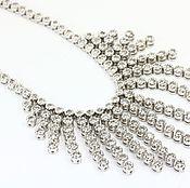 Necklace handmade. Livemaster - original item Diamond White Gold Chocker necklace in 14k 8.72 tcw. Handmade.