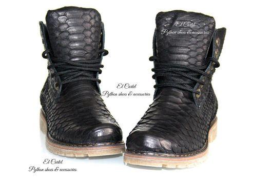 Обувь ручной работы. Ярмарка Мастеров - ручная работа. Купить Ботинки из питона. Handmade. Ботинки, ботинки из питона, кожа питона