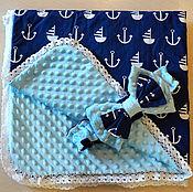 Работы для детей, ручной работы. Ярмарка Мастеров - ручная работа Одеялко для малыша конверт на выписку из роддома. Handmade.
