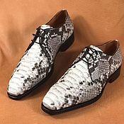 Обувь ручной работы handmade. Livemaster - original item Derby men`s Python skin, in natural colors!. Handmade.