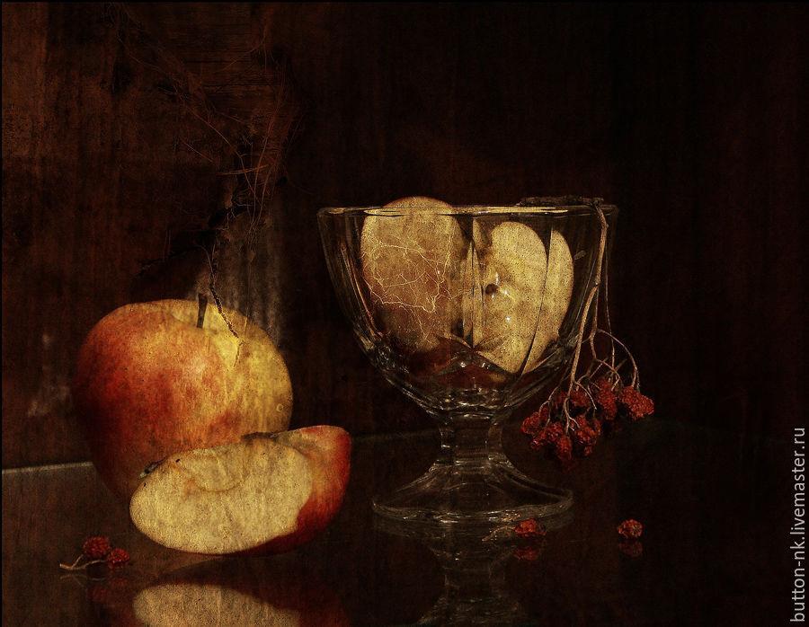 Старый натюрморт (яблоки в креманке), Фотокартины, Москва, Фото №1