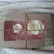 Мыло ручной работы. Ярмарка Мастеров - ручная работа Мыло: Набор сувенирного мыла в виде цветов. Handmade.