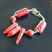 "Украшения handmade. Livemaster - original item Коралл. ""Королек"" браслет из природных кораллов. Handmade."