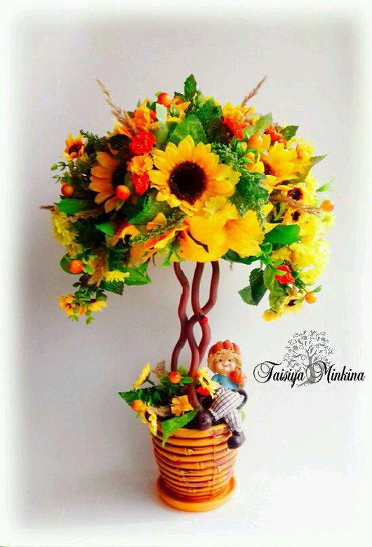 """Топиарии ручной работы. Ярмарка Мастеров - ручная работа. Купить Топиарий """" Sunflower"""" ( солнечный цветок)!. Handmade. Топиарий"""