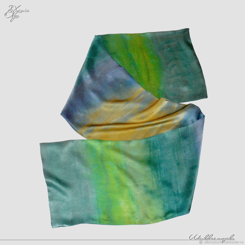 ... Мужской шелковый шарф кашне Весна Подарок мужчине девушке женщине шарф  кашне платок палантин шелковый батик ручная ... 6874e362f45
