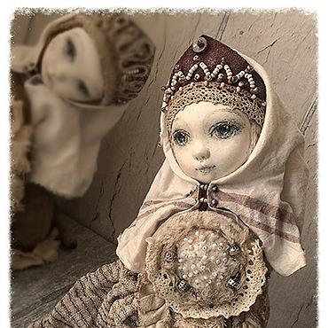 """Куклы и игрушки ручной работы. Ярмарка Мастеров - ручная работа """"О чем плачет Сирин?.."""" птичка-куколка тедди-долл. Handmade."""