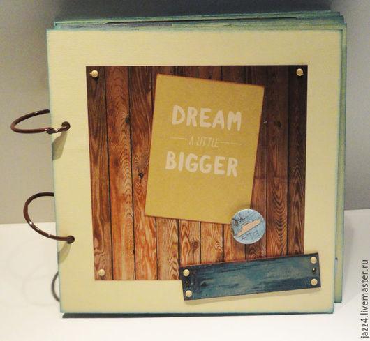 """Фотоальбомы ручной работы. Ярмарка Мастеров - ручная работа. Купить Фотоальбом """"Мечтай-2"""". Handmade. Комбинированный, скрап бумага"""