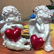 Статуэтки ручной работы. Ярмарка Мастеров - ручная работа Ангелочки для влюбленных. Handmade.