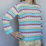 "Одежда ручной работы. Ярмарка Мастеров - ручная работа Пуловер ""Мармелад"". Handmade."