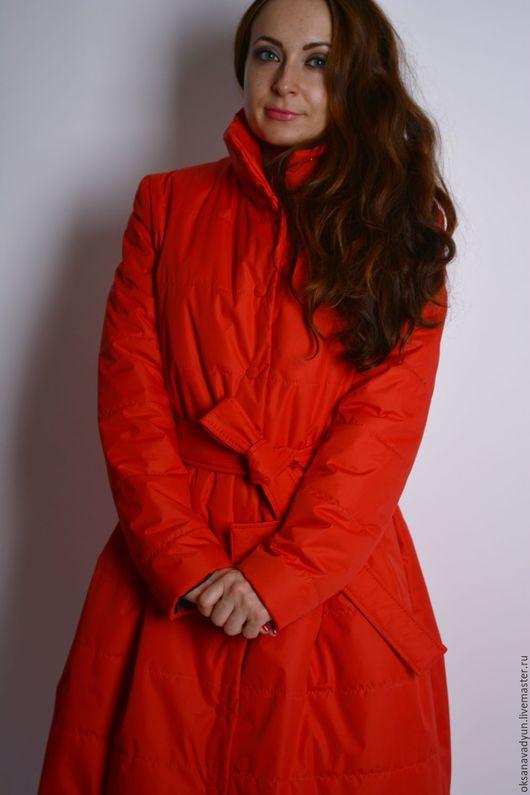 Верхняя одежда ручной работы. Ярмарка Мастеров - ручная работа. Купить Демисезонное пальто Lady in red. Handmade.