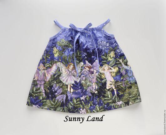 Одежда для девочек, ручной работы. Ярмарка Мастеров - ручная работа. Купить Сарафан для девочки. Handmade. Голубой, сарафан для девочки