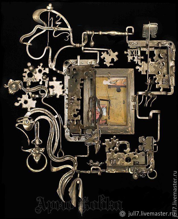 Панно кованое Креативное время, Картины, Санкт-Петербург,  Фото №1