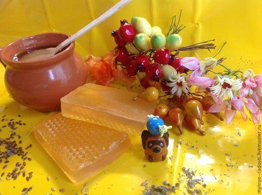 Мыло ручной работы. Ярмарка Мастеров - ручная работа. Купить Медовое. Handmade. Оранжевый, мыло сувенирное, мыловарение