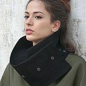 Одежда ручной работы. Ярмарка Мастеров - ручная работа Джинсовая куртка хаки с молниями по бокам / Джинсовка с воротником. Handmade.