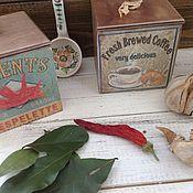 Для дома и интерьера ручной работы. Ярмарка Мастеров - ручная работа Набор коробочек для кухни. Handmade.