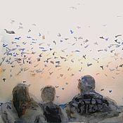 """Картины и панно ручной работы. Ярмарка Мастеров - ручная работа Акварель """"Вечер"""". Handmade."""