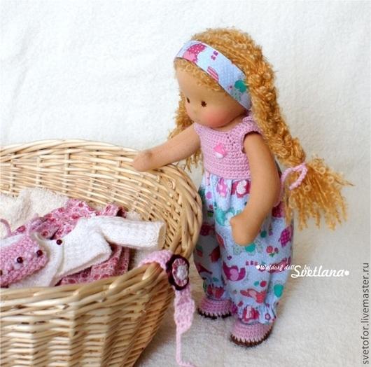 Вальдорфская игрушка ручной работы. Ярмарка Мастеров - ручная работа. Купить Варенька, 32 см. Handmade. Вальдорфская кукла, подарок