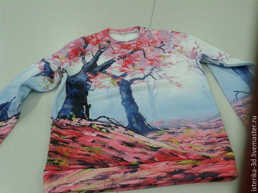 Кофты и свитера ручной работы. Ярмарка Мастеров - ручная работа. Купить Свитшот с принтом Осеннее дерево - шикарный подарок. Handmade.