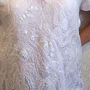 Блузки ручной работы. Ярмарка Мастеров - ручная работа Ажурная белая блуза. Handmade.