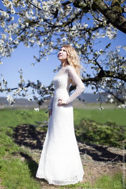 Платья ручной работы. Ярмарка Мастеров - ручная работа. Купить Нимфея. Handmade. Белый, свадебное платье