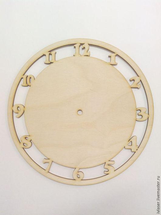 IVl-011-4 Циферблат заготовка для декупажа и росписи часов  Заготовка из фанеры 4 мм