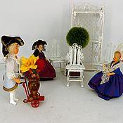 Аксессуары для кукол и игрушек ручной работы. Ярмарка Мастеров - ручная работа Ажурный кукольный набор мебели для сада (металл). Handmade.