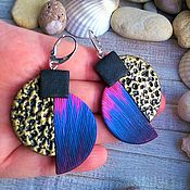 Украшения handmade. Livemaster - original item Earrings made of polymer clay BOHO. Handmade.