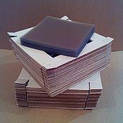 Материалы для творчества ручной работы. Ярмарка Мастеров - ручная работа Заготовка коробочек 15х15х3 см с окном цвет крафт. Handmade.