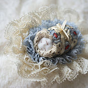 handmade. Livemaster - original item Brooch Sleeping baby. From the series