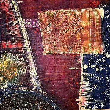 """Картины и панно ручной работы. Ярмарка Мастеров - ручная работа Батик """"Красная земля"""". Handmade."""