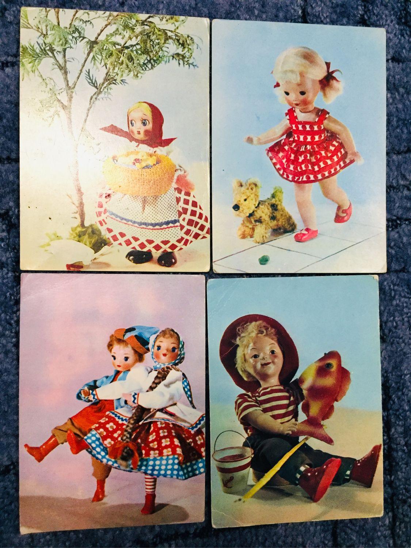 Советские кукольные открытки