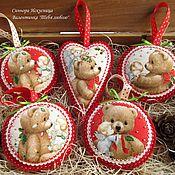 Подарки к праздникам handmade. Livemaster - original item Valentines out of felt and fabric You love. Handmade.