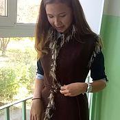Одежда ручной работы. Ярмарка Мастеров - ручная работа Жилет валяный с кудрями. Handmade.