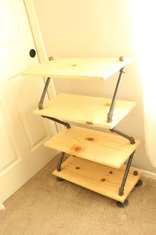 Мебель ручной работы. Ярмарка Мастеров - ручная работа. Купить Полка для обуви. Handmade. Полка, для прихожей, лофт стиль