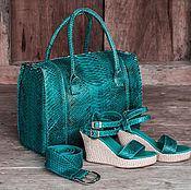 Сумки и аксессуары handmade. Livemaster - original item Bag genuine Python leather Victoria. Bag made of Python. Handmade.