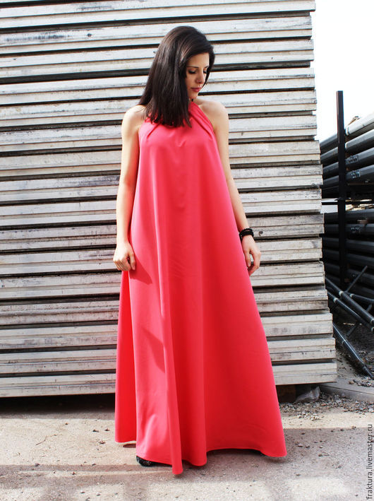 Платья ручной работы. Ярмарка Мастеров - ручная работа. Купить Длинное модное платье / D0002. Handmade. Разноцветный